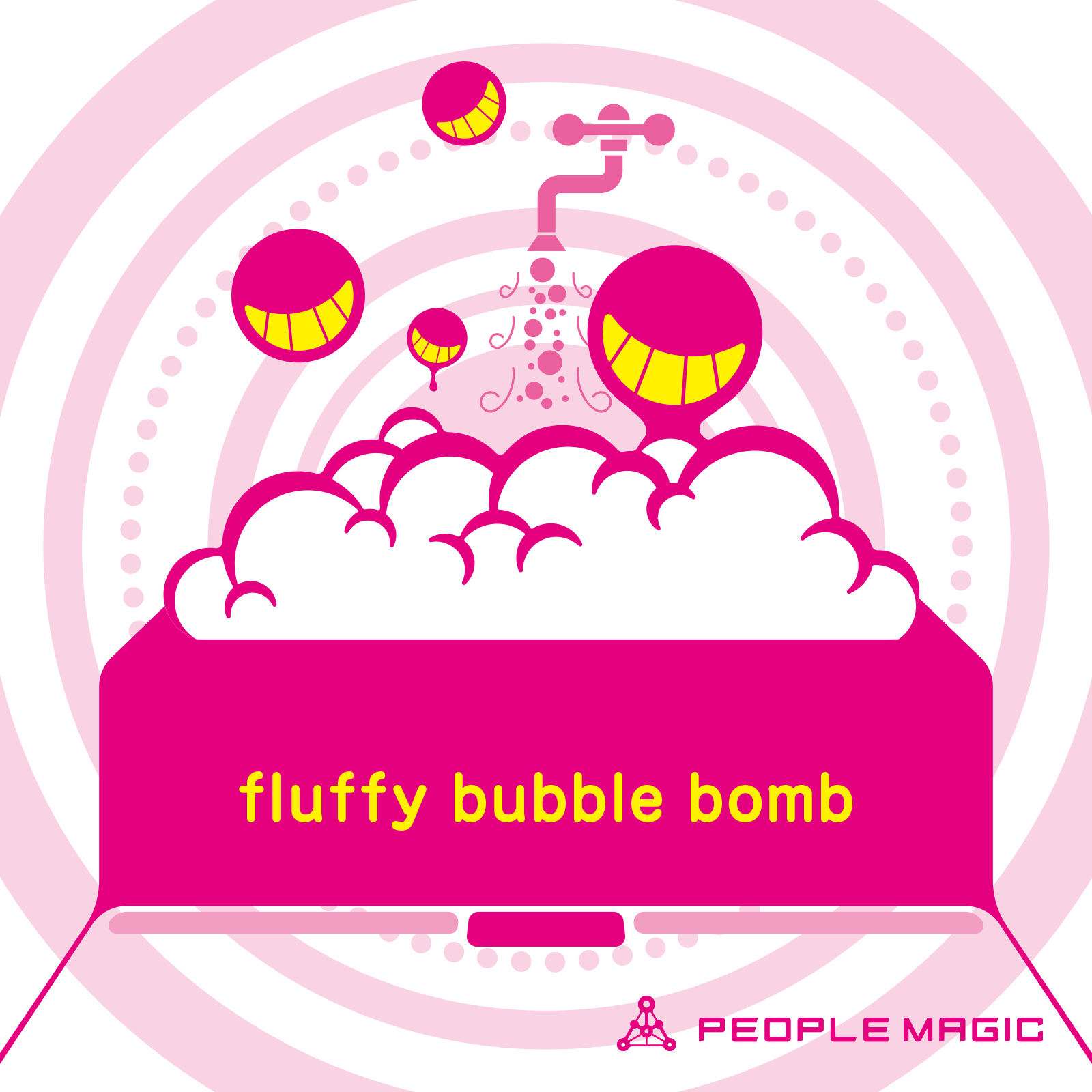 fluffy bubble bomb
